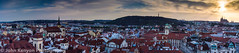 Prague at sunset... (johnkenyonphotography@gmail.com) Tags: city bridge sunset castle beauty river scenery cathedral charles praha panoramic vlatva