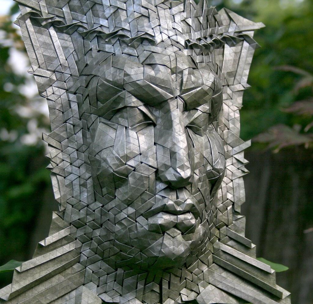 Ozymandias Origami Joel Tags Face Silver Mask Tessellation