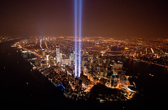 Tribute In Lights 2013 From Above (noamgalai) Tags: city nyc newyork lights anniversary worldtradecenter helicopter wtc september11 tributeinlight tributeinlights 2013 sitemain