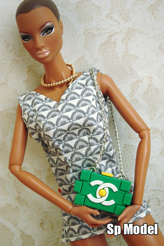 Cute Chanel Lego clutch for 12 inch fashion dolls