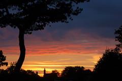 October sunset silhouettes (Kirkleyjohn) Tags: light sunset sky silhouette atardecer treesilhouette suffolk sonnenuntergang silhouettes pôrdosol pines lowestoft coucherdusoleil scotspine treessilhouettes