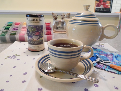 Tea in Blue Stripe