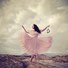 Time Keeper (Margherita Introna Photography) Tags: pink sea selfportrait clock beach composite fairytale self dark time fineart watch conceptual magical pocketwatch darkart pinkdress