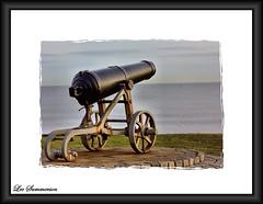 Your Cannon and Your Helios (Lee Summerson) Tags: ocean sea black green canon grey framed rusty cannon headland countydurham hartlepool thenorthsea northeastengland helios442