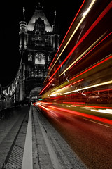 Tower Trails (Jchales.co.uk) Tags: old winter light red england orange building green london tower night dark lights stream colours bright towers trails tourist nightime catchy 2013 canonefs1755mmf28isusm streamingf