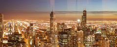(D3IM0S) Tags: street city panorama chicago tower night canon illinois shot loop american hancock willis 42mm