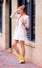 Cotton Candy (Thedrawingmannequin) Tags: pink light urban fashion socks vintage hair gold neon purple pastel style curls oxford button bracelet heels spike jeffrey curled curl ankle campbell bun outfitters oxfords fashionblogger