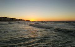 Twilight is Coming (Gikon) Tags: sunset sea sun beach water colors evening coast twilight nikon colorful day waves clear northsea 1855mm gikon d3100