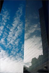 First Roll of Film I've shot in 5 years! (Chris Protopapas) Tags: newyorkcity reflection art architecture clouds facade downtown pentax justpentax pentaxart visipix itsnotacapture smcpentaxm28~50