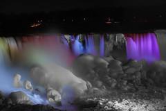 The Frozen Falls (xxxbaxxx) Tags: winter blackandwhite canada nature canon niagarafalls frozen waterfall selectivecolor frozenfalls