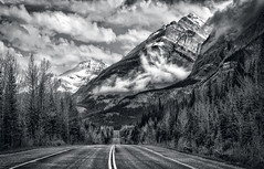 The Land That Time Forgot (Jeff Clow) Tags: road travel vacation landscape getaway massive parkway majestic albertacanada roadway banffnationalpark icefieldsparkway canadianrockies ©jeffrclow jeffclowphototours