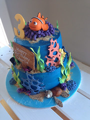Finding Nemo (4) (cakesbylucille) Tags: birthday party cake nemo handmade tasmania edible dory launceston findingnemo decorator fondant buttercream gumpaste decoratedcake cakedecorating nemocake findingnemocake customcakes noveltycakes launcestoncakedecorator cakesbylucille