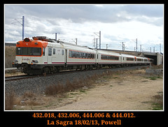 El ultimo viaje de los electros (Powell 333) Tags: españa train canon tren trenes eos spain media rail trains 7d powell electro railways 006 012 018 sagra obispo castilla mancha distancia ferrocarril renfe 444 castillalamancha traslado adif ffcc obispos 432 operadora 432006 castillamancha 444006 mediadistancia 444012 electros renfeoperadora eos7d canoneos7d 432018 renfemediadistancia