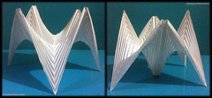 Parallel Pleat Forms Hyperbolic Paraboloid Shelter 2 (NeoSpica / NeoLiveArt) Tags: roof pattern view shapes front fold shelter curved tutorial corrugation folding invert pleated unfolding paraboloid collapsible pleat invested curvefold