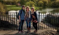 Central Park (emptyseas) Tags: camera nyc trees usa newyork tom back nikon boots blossom susan centralpark ella jeans walkway d80 emptyseas