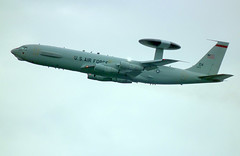 "E-3B AWACS 73-1675 over Patrick AFB as ""Scout 16,"" 12 Feb 2014 (allanstern@aol.com) Tags: awacs e3b"