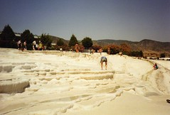Pamukkale (wallygrom) Tags: turkey turkiye july 1993 pamukkale izmir rockpools chalkcliffs limestonecliffs