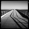 piering (Jon Downs) Tags: uk shadow england white black art monochrome digital downs photography grey mono pier photo jon artist photographer phone image gray picture pic photograph gb iphone saltburn 272 saltburnbythesea hipstamatic jondowns