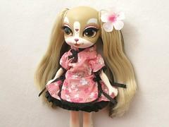 Pinkie Cooper (Wisteria floribunda) Tags: bridge dog pets english set toy miniature outfit doll king dress jet dal charles clothes cooper spaniel fiori pinkie direct the