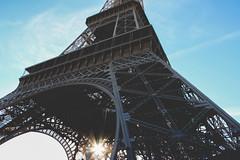 Rays (miriam-f) Tags: blue sky paris france tower monument beautiful buildings soleil high architechture europe tour champs eiffel eifel tuileries rays rayon fer elysee lyse vsco