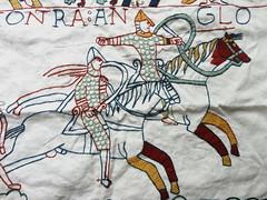 Bayeux_stitch_cavalry_detail (www.miriam-blaylock.com) Tags: stitch embroidery stitching middleages cavalry bayeux embroider woolembroidery bayeuxstitch bayeuxembroidery