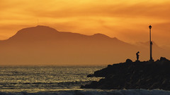 sunst @ teh p1er (WelshPixie) Tags: sunset silhouette southafrica falsebay gordonsbay westerncape