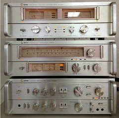 Setton TUS 600 Tuner, PS 5500 Preamp, BS 5500 Power Amp (Taylor Player) Tags: turntable stereo pre yamaha 70s 1978 tuner cassette pioneer receiver rare speakers components reeltoreel kenwood audiophile vintageaudio mosnter silverface ampamplifier marantzsansui