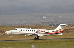 LearJet 40 N700KG at Isle of Man EGNS 08/02/15 (IOM Aviation Photography) Tags: man 40 isle learjet 080215 egns n700kg