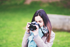 learning to shoot (João Carmo) Tags: camera portrait people woman girl beautiful female analog canon lens person focus shoot photographer gorgeous photograph learning shooting click capture photographing petit focusing canonef85mmf18usm canon650d