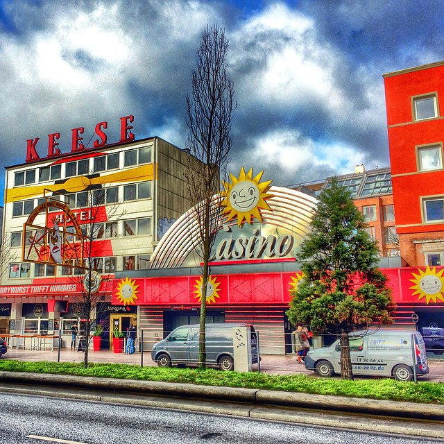 Casino, Reeperbahn, Germany  The Reeperbahn is a street in Hamburgs St. Pauli district, one of the two centres of Hamburgs nightlife and also the citys red-light district. In German it is also sometimes described as die sündigste Meile.  Photo by @Octa