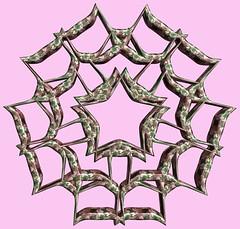 5 Tori / 5つの輪環 (TANAKA Juuyoh (田中十洋)) Tags: torus 輪環 りんかん ドーナツ どーなつ mathematica 3d cg parametricplot3d texture code program algorithm abstruct graphic design pattern structure mapping figure プログラム コード アルゴリズム テクスチャ マッピング 模様 もよう 抽象 ちゅうしょう アブストラクト グラフィック グラフィクス パターン デザイン 意匠 いしょう 構造 こうぞう 図形 ずけい symmetry 対称性 たいしょうせい シンメトリー 対称 たいしょう マセマティカ