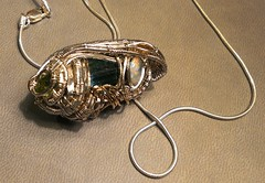 ElBaroudy1 (DrewsTheOne) Tags: art love silver gold friendship crystal egypt craft slide jewelry collection precious opal dangle tourmaline gemstones peridot wirework wirewrapping dwdesign tourmalinecrystal baroudy necklaceslide