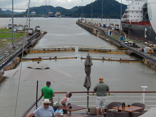 In the Upper Miraflores Lock Chamber