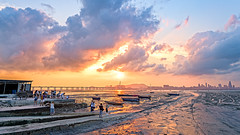 Sunset at Lau Fau Shan, Hong Kong (johnlsl) Tags: sunset hongkong laufaushan