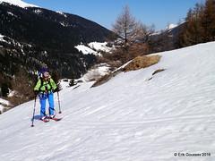 Day 2, afernoon: up to the Valsorey hut. (Erik.G.) Tags: zermatt chamonix skitouring skitour hauteroute valsorey plateauducouloir