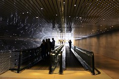 Moving sidewalk (Read2me) Tags: pree cye dctripsmithsonian lights vanishingpoint silhouette ge superherowinner thechallengefactory friendlychallenges