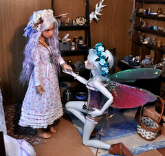 """Will you stay by my side forever?"" (nekomuchuu63) Tags: people costume doll magic indoor fairy fawn bjd minifee woosoo bjddoll mirwen msddoll minifeemirwen nekomuchuu fairylandbjds"