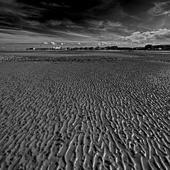 Minehead Sands (Ged Slaughter Photography) Tags: sky bw cloud seascape clouds landscape sand somerset ripples sands butlins minehead gedslaughter