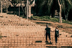 Par... (vane.curci) Tags: orange texture brasil stairs pattern creative line escada belohorizonte par ritmo degrau linhaseformas