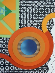 Chicago, Chicago Cultural Center, Latino Art Today, Colorful Sculpture (Mary Warren (6.9+ Million Views)) Tags: sculpture abstract art lines colorful circles curves round diagonals chicgao chicagoculturalcenter