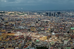 Napoli Centro Storico (elzauer) Tags: city travel sky italy mountain history architecture outdoors photography harbor europe day cityscape campania angle image citylife overcast it napoli viewpoint oldtown scenics urbanskyline humaninterest tranquilscene naplesitaly traveldestinations buildingexterior gulfofnaples highangleview commercialdock italianculture horizonoverwater builtstructure bayofwater