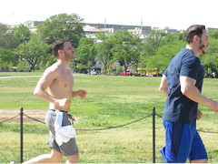 IMG_0656 (FOTOSinDC) Tags: shirtless man men muscles muscle candid handsome running sweaty sweat shorts jogging runner tee jogger