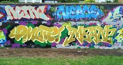 by RETRO , NEBOE, DMATE, MEAN - LONDON, JUNE 2016 (EloquentNoiseUK) Tags: london graffiti retro mean cbm neboe dmate pfbcrew