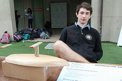 PZ20160513-033.jpg (Menlo Photo Bank) Tags: ca boy people usa sign sailboat us spring student model technology engineering quad science event bjorn individual atherton 2016 engaging upperschool makerfaire menloschool photobypetezivkov appliedscienceresearch