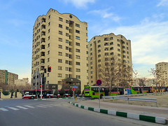 Residential Towers (Kombizz) Tags: trafficlights building architecture buildings iran tehran burj 1394  district9 kombizz 22bahman residentialtowers greenbuses 1140462 22bahman1394 boulevarddistrict moeenboulevard
