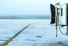 Runway (Chris B Richmond) Tags: sky mist lines fog canon landscape concrete airport cool cords space empty terminal hills planes exit dslr runway vast