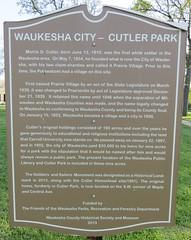Cutler Park Marker (Waukesha, Wisconsin) (courthouselover) Tags: wisconsin waukesha wi waukeshacounty milwaukeemetropolitanarea