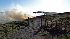 Gorse fire (McArdle's5) Tags: gate smoke belfast northernireland hillside firebrigade cavehill belfastcitycouncil belfastparks nifrs