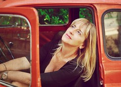 Scent of a Woman (Steve Lundqvist) Tags: red portrait woman car hair donna nice dress fiat expression blonde 500 ritratto