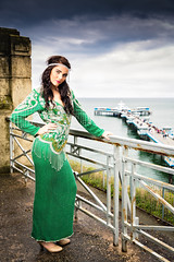 Green Frock (Fairy_Nuff (new website - piczology.com!)) Tags: cloud green pier model dress lisa rail frock llandudno welshot